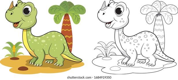 Little dinosaur coloring book for kids
