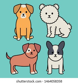 little dogs adorables mascots characters