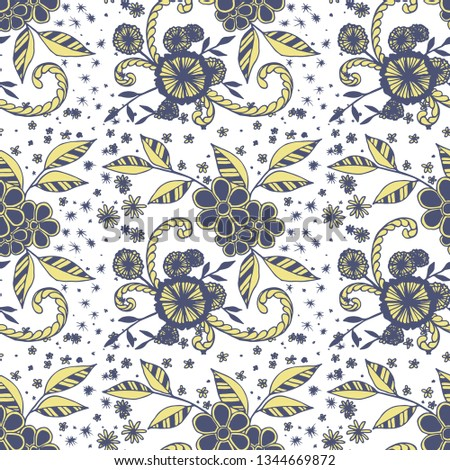 f7a8ad6d64111 Little Flowers Seamless Pattern Liberty Style Stock Vector (Royalty ...