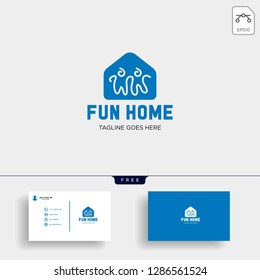 Little Friend Happy creative logo template vector illustration