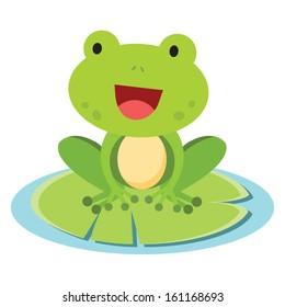 Little frog. Vector illustration of a cute little frog.