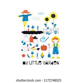 Little ggarden poster, Farm graphics