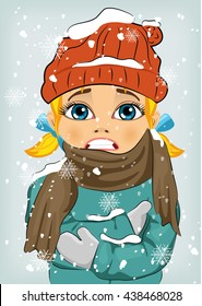 Freezing Girl Images, Stock Photos & Vectors | Shutterstock