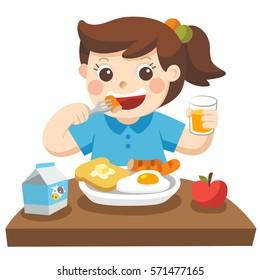 Kids Eating Cartoon Images Stock Photos Vectors Shutterstock
