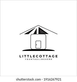 little house cottage logo vector