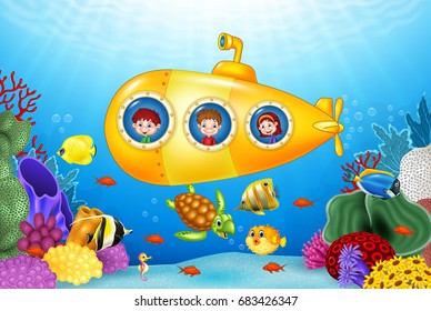 Kid+cartoon+swim Stock Illustrations, Images & Vectors | Shutterstock