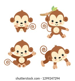 Little monkey cartoon.