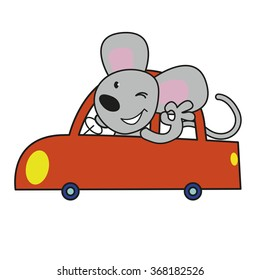 Little mouse in the car