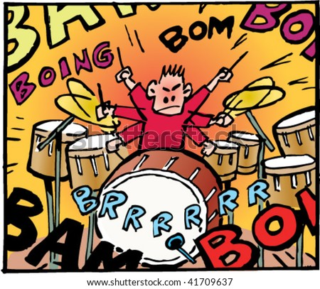 Little Noisy Drummer Boy Stock...