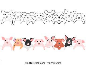 little pigs border set