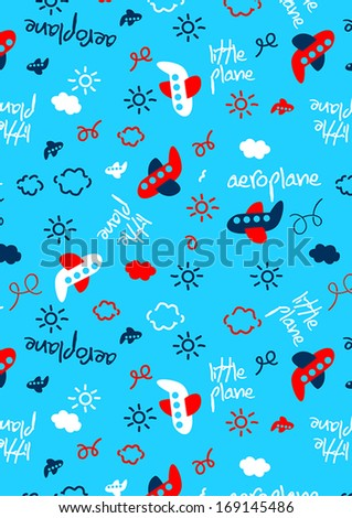 Little Plane Repeat Pattern Illustrator Swatch Stock Vector Royalty Inspiration Repeat Pattern Illustrator