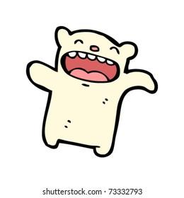 little polar bear cartoon