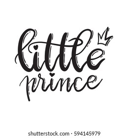 Little prince. Lettering typography fairy tale boy overlay set. Cute inspiration typography. Calligraphy postcard poster photo graphic design element. Hand written sign.