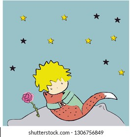 little prince. planet. star