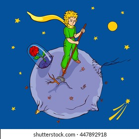 The little Prince works on his planet