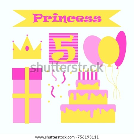 Little Princess Birthday Party Ideas Pink And Yellow Cake Balloons Crown