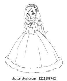 little princess girl winter dress 260nw
