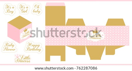 Little Princess Party Printable Template Baby Stock Vector (Royalty ...