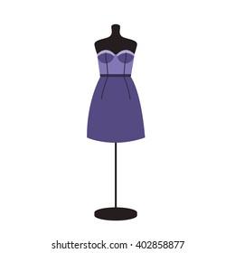 Little purple dress on mannequin