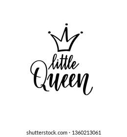 Little queen vector calligraphy lettering nice design
