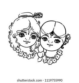 Line Art Krishna Images Stock Photos Vectors Shutterstock