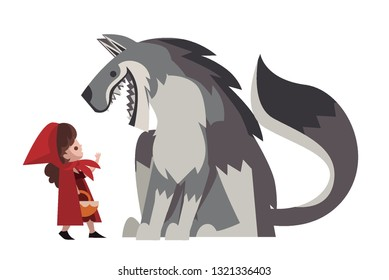 little red hood with big bad wolf
