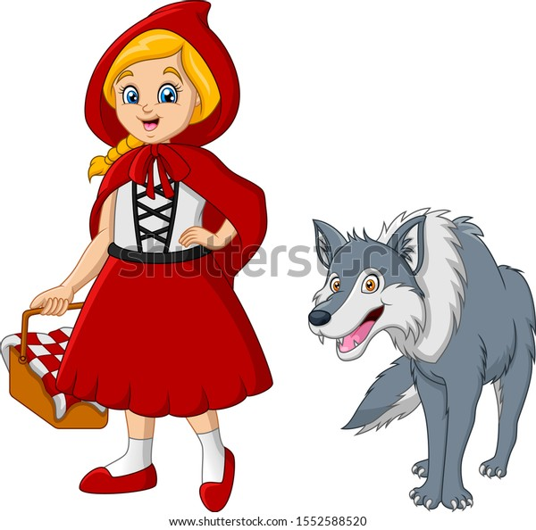 Little Red Riding Hood Wolf Stock Vector Royalty Free 1552588520
