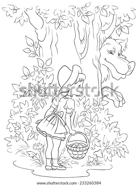Red Fox in the forest coloring page | Free Printable Coloring Pages | 620x458