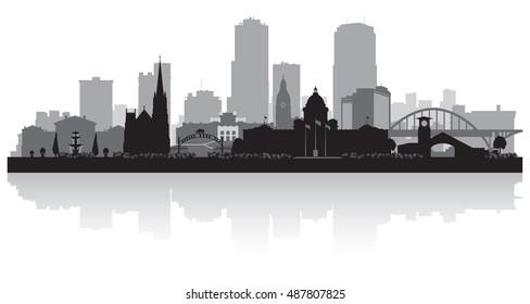 Little Rock Arkansas city skyline vector silhouette illustration