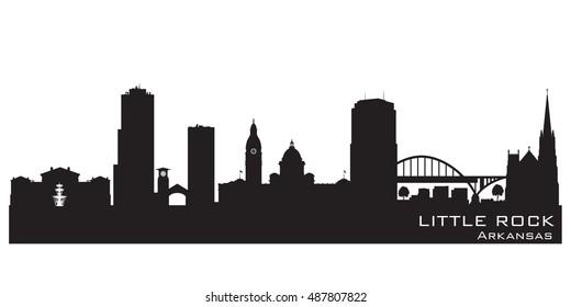 Little Rock Arkansas skyline Detailed vector silhouette