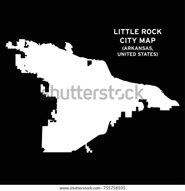 Little Rock Arkansas Usa City Map Stock Vector (Royalty Free ...