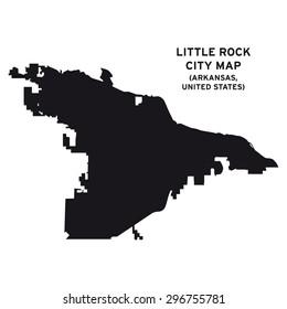 Little Rock city map vector