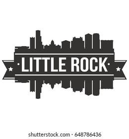 Little Rock Skyline Silhouette Design City Vector Art