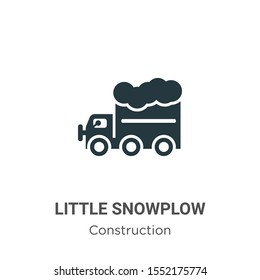 Little snowplow vector icon on white background. Flat vector little snowplow icon symbol sign from modern construction collection for mobile concept and web apps design.