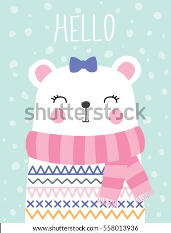 e565052d8 Royalty-free stock vector images ID: 558013936. Little teddy bear girl  vector illustration. - Vector