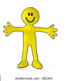 Little yellow man vector...