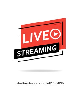 Live broadcast. The red symbol of live broadcasting and live broadcasting, broadcasting, online broadcasting. Vector illustration.