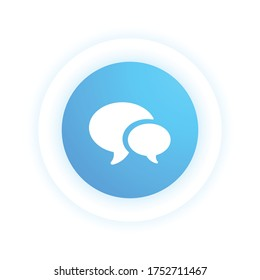 Live Chat - Modern Icon (Pictogram)