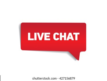 LIVE CHAT on speech bubble