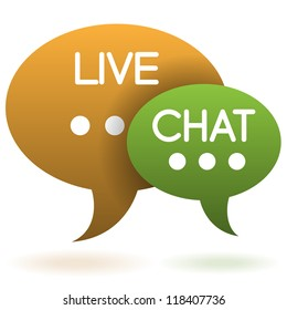 live chat speech balloons icon vector illustration