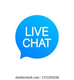 live chat speech bubbles concept. Vector stock illustration