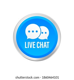 live chat speech bubbles concept. Vector stock illustration.