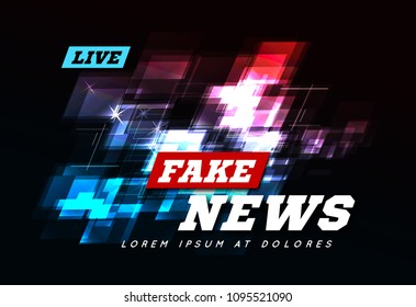 Live Fake News Can be used as design for television news or Internet media. Vector