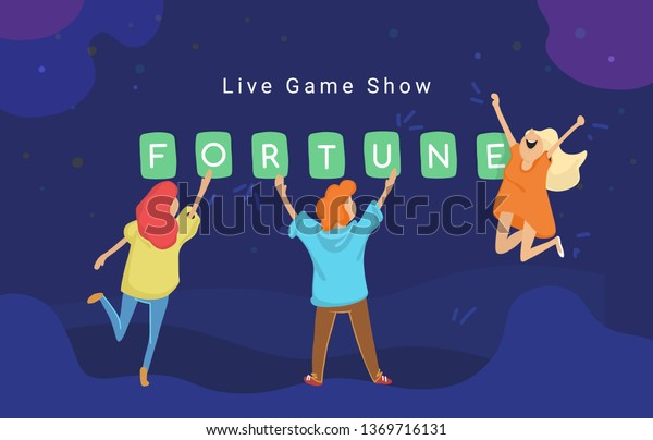 Live Game Show Concept Flat Vector Stock Vector (Royalty