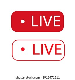 live icon on white background, vector illustration
