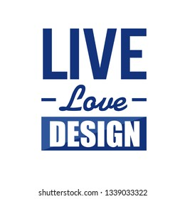 live love design sign concept illustration over a white background