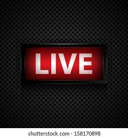 Live message  studio sign