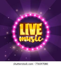 Live Music Banner. Vector illustration.