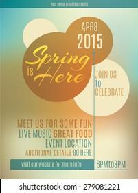 Live music festival spring poster or flyer design template