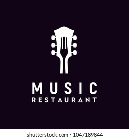 Live Music and Food logo design inspiration